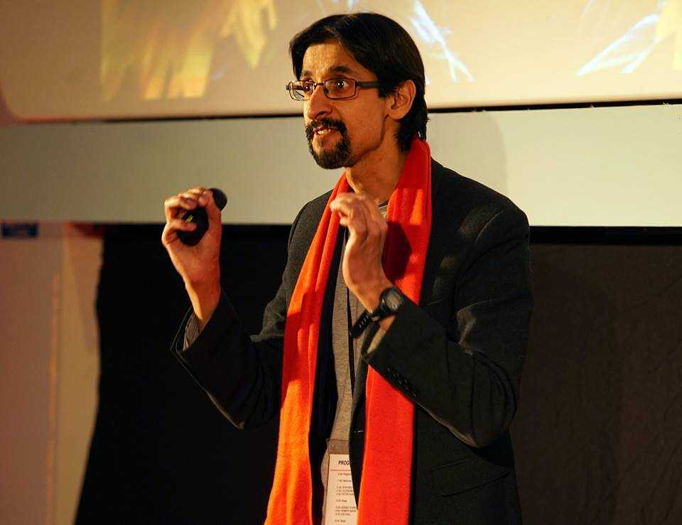 Sanjay speaking at a TEDx event