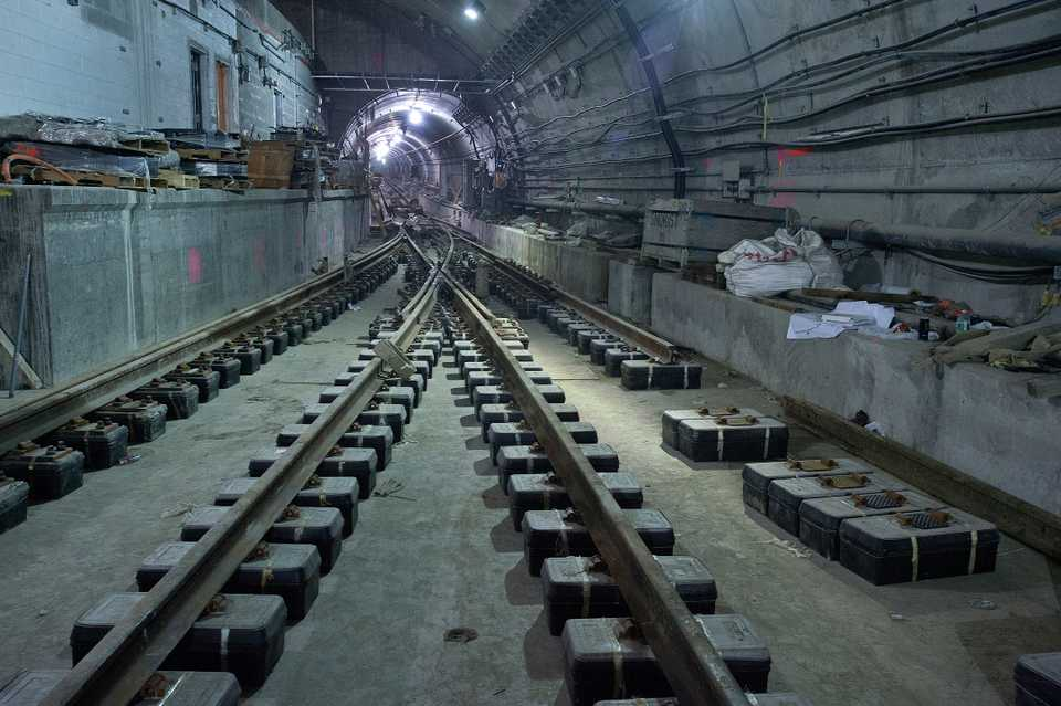 The Second Avenue Subway during construction