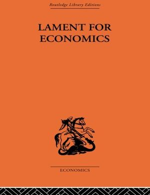 Carolina Alves's recommendation: 'Lament for Economics' by Barbara Wootton.