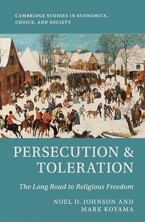 Sriya Iyer's recommendation: 'Persecution and Toleration' by Noel Johnson and Mark Koyama.